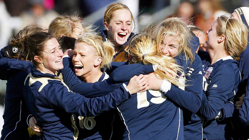 The Notre Dame women's soccer program won its most recent NCAA championship in 2010.