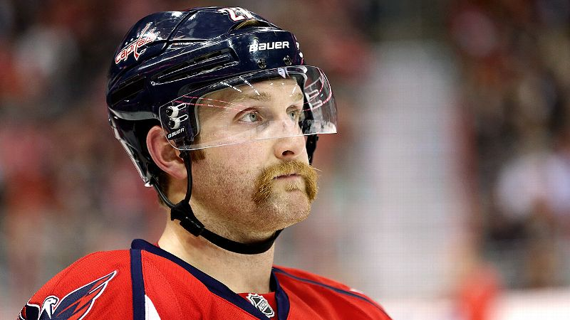 Washington Capitals defenseman Karl Alzner is bringin' it with his Movember 'stache.