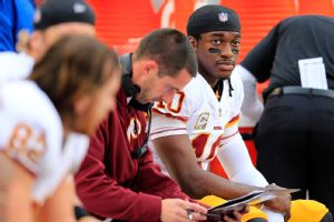 Kyle Shanahan said that he has become a more well-rounded coach after working with dynamic QB Robert Griffin III in Washington.