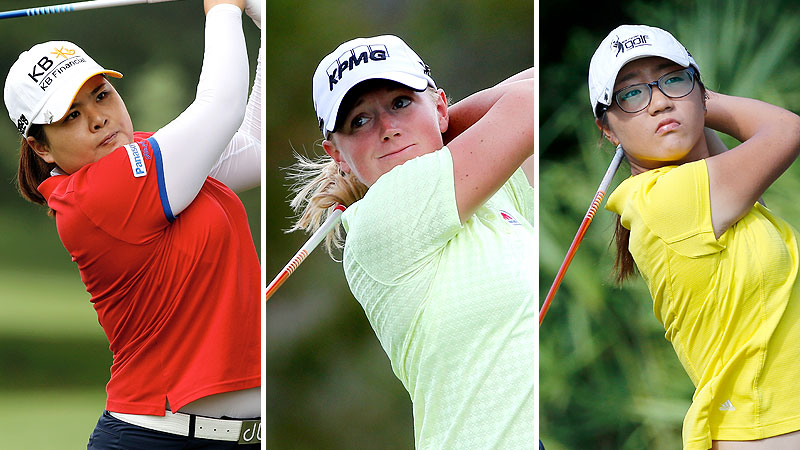 Inbee Park, Stacy Lewis, and Lydia Ko