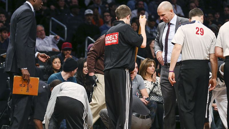 On the one hand, Brooklyn Nets coach Jason Kidd will do anything to win. On the other hand, that includes spilling his drink to buy his team a free timeout. While you have to applaud his creativity, it probably would have been more appreciated had he not been so obvious and if his team actually won the game. The Nets lost, 99-94, to the Los Angeles Lakers. Kidd was fined 50,000 for the stunt. (Photo: John Minchillo/AP)