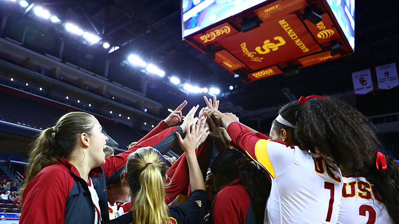 With wins over New Hampshire and Cal State Northridge, USC advanced to the Sweet 16.