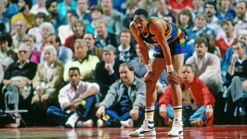 You would be just as tired as Alex English if you scored 47 points and played three overtimes.