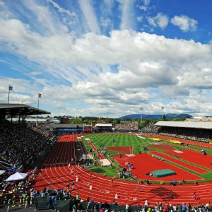 Hayward Field, which hosted the NCAA track and field championships for the 11th time this year, will continue to host the event through 2021, it was announced Wednesday.