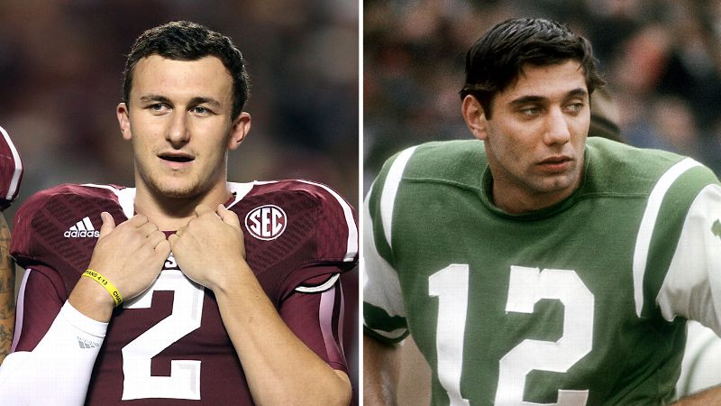 Johnny Manziel and Joe Namath