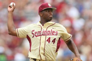 Jameis Winston was an outfielder and a relief pitcher for the Seminoles baseball team last spring.