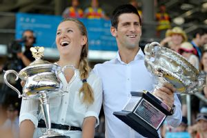 Defending champions Victoria Azarenka of Belarus and Novak Djokovic of Serbia would like nothing more than to cradle the Australian Open trophies again this year.