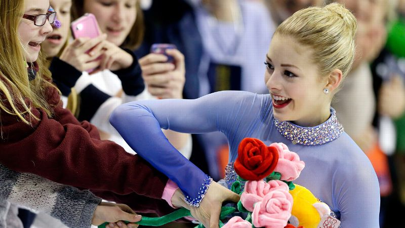 Gracie Gold won the national title in a landslide, finishing 18 points ahead of runner-up Polina Edmunds.
