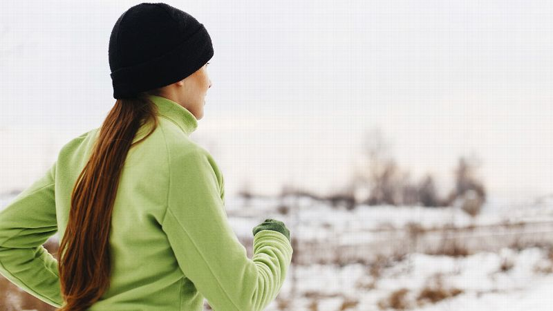 Bundling up is key for running outside; dont let the weather deter you from logging your miles.