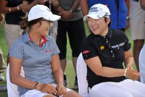 Young players walk a fine line playing with LPGA veterans, trying to socially fit into a highly competitive environment.