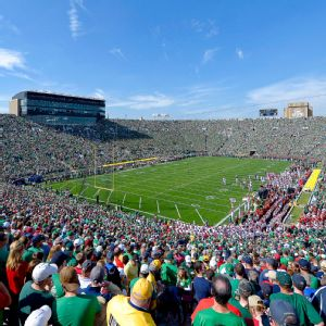 The buildings on the east and west sides of Notre Dame Stadium will rise nine stories as part of a 400 million expansion and include premium seating, pushing capacity from 80,795 to more than 84,000.