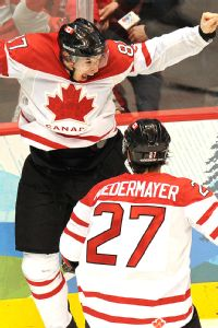 Scott Niedermayer and Sidney Crosby