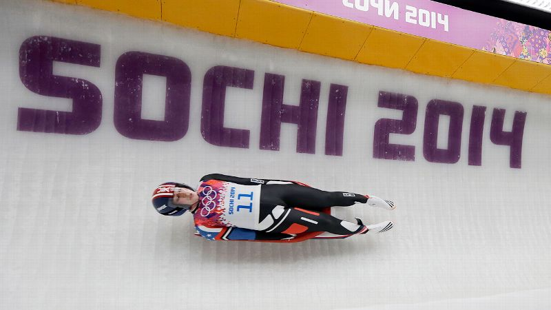 Sitting in third place after the first two runs of the womens luge, Erin Hamlin is in  position to be the first American to win a singles luge medal at the Olympics. I'll take it, Hamlin said. Definitely. The final two runs are Tuesday night. i(Photo: AP)/i