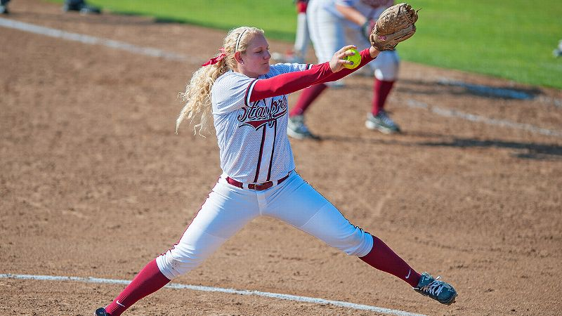Stanford's freshman pitchers Madi Schreyer, pictured above, and Carley Hoover combined to go 6-0 with 38 strikeouts in 28 innings over the opening weekend at the Kajikawa Classic in Tempe, Ariz.