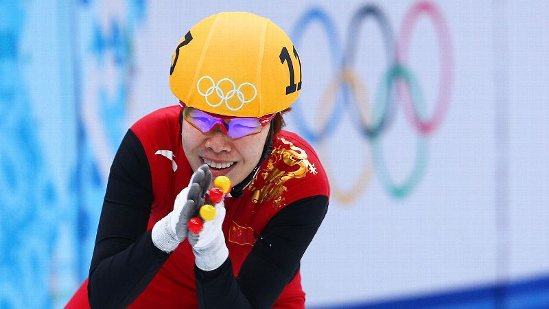 There's nothing like a false start to throw you off your game. Not so for China's Zhou Yang who kept her composure and went on to successfully defend her 1,500-meter short track gold medal that she won four years ago in Vancouver. iPhoto: Paul Gilham/Getty Images/i