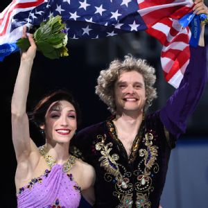 Charlie White and Meryl Davis won gold in ice dancing for the U.S.