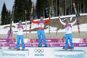 With a sweep in the men's 50K cross-country race, Russia clinched the overall medals title.