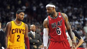 Kyrie Irving and the Cavs would provide James with youthful upside, but perhaps not immediate title potential.