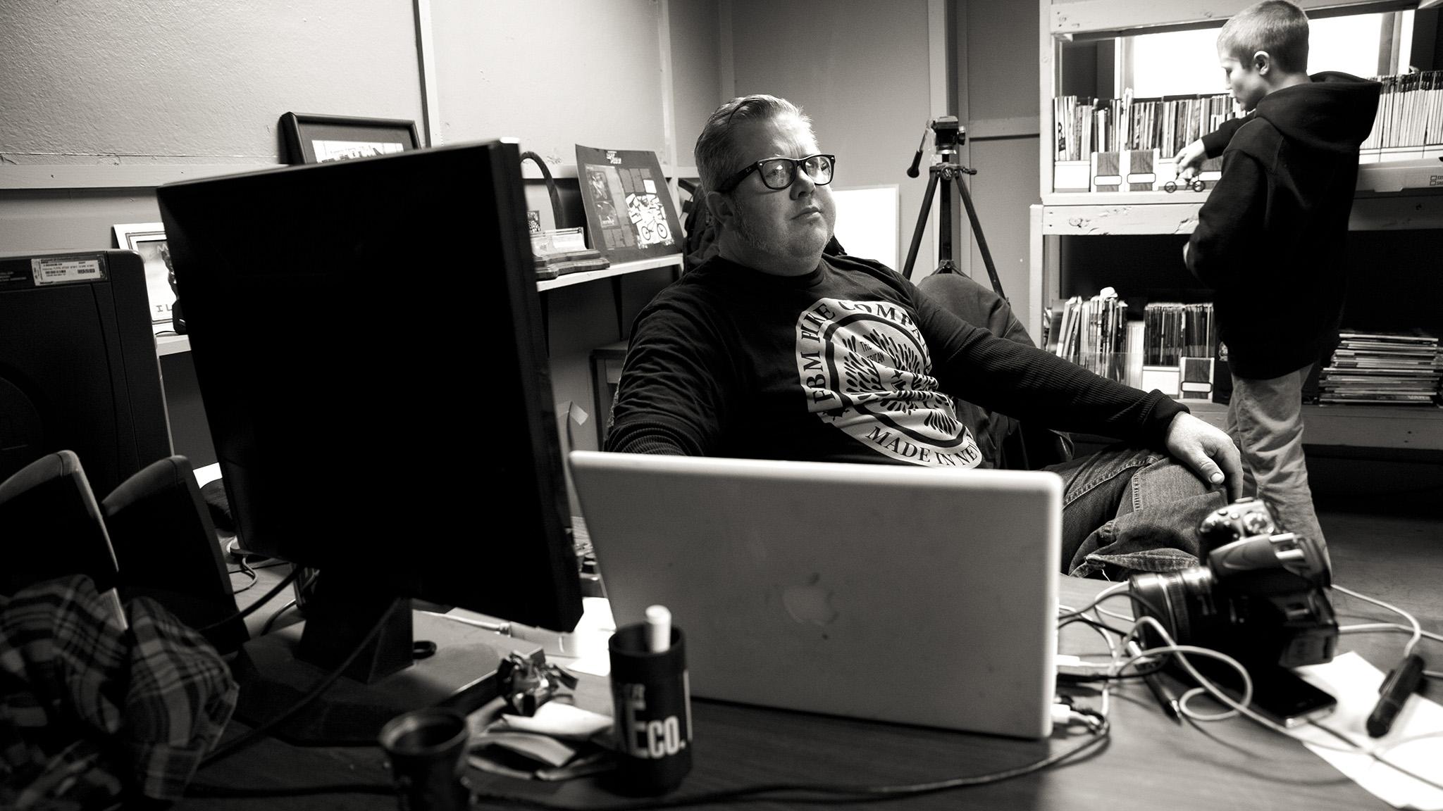 Steve Crandall at FBM headquarters