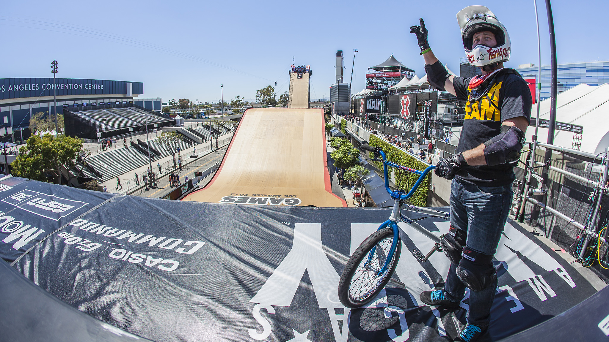 X Games BMX competitor Chad Kagy, seen in a Team Ream t-shirt at X Games, will will be among the athletes featured in a BMX demo on Sunday, March 2 for Team Ream Day at Penn State.