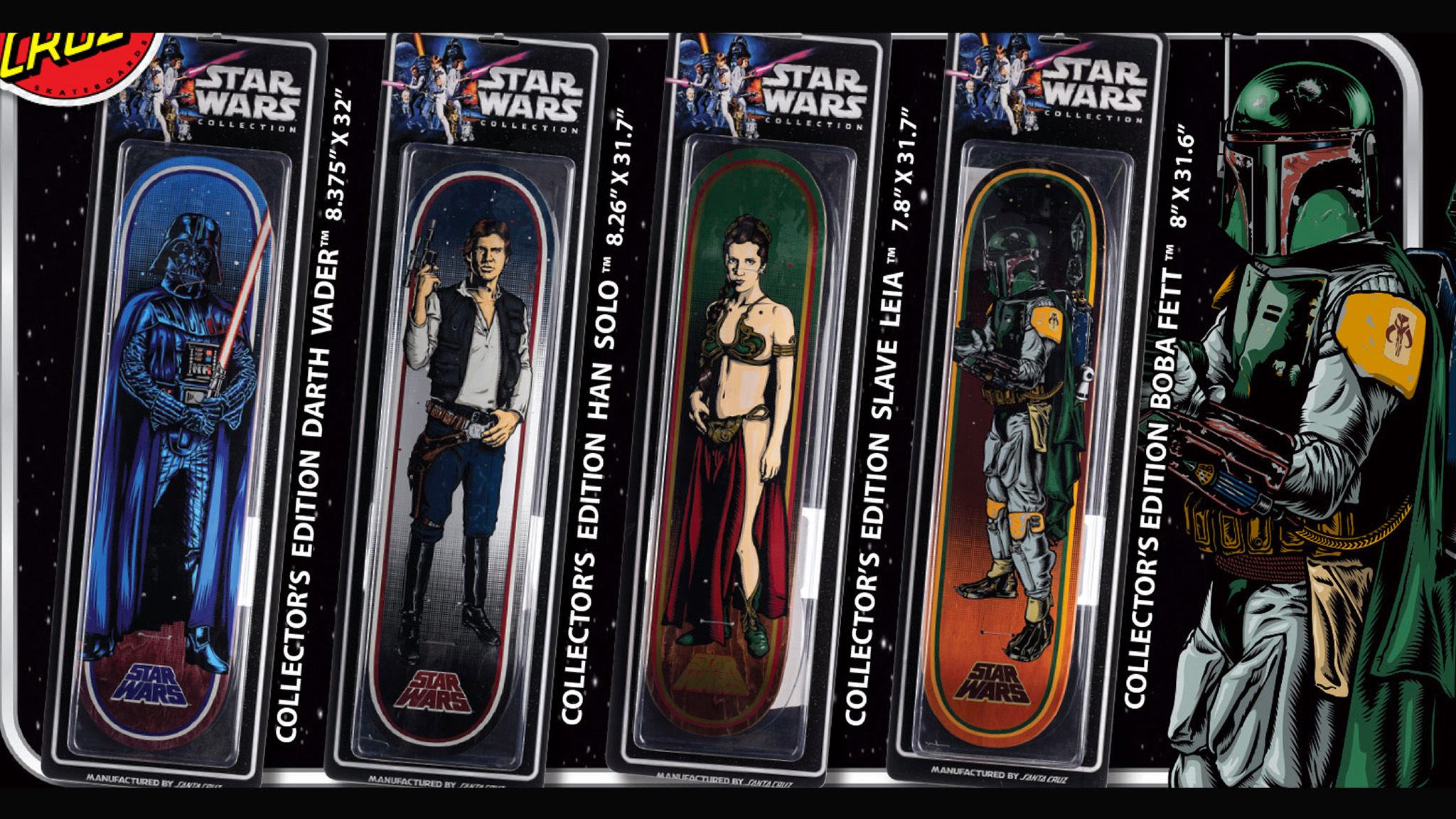 9af5f988ec The Collector s Edition of Star Wars-themed skateboards from Santa Cruz.