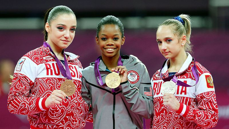 At the 2012 London Olympics, then-16-year-old Gabrielle Gabby Douglas became the first African-American gymnast in Olympic history to win the all-around title and the first American gymnast to take home the gold in both the individual all-around and team events. Later that year, she became just the fourth gymnast to be named the Associated Press Female Athlete of the Year. Her story was immortalized in her 2012 bestselling autobiography Grace, Gold & Glory: My Leap of Faith and in a TV movie released earlier this year. After releasing a second book, Raising the Bar, and a brief absence from competition, Douglas has returned to training and looks to compete in the 2016 Olympic Games.