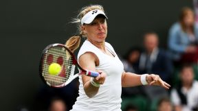 Great Britain's Elena Baltacha in action at Wimbledon. Baltacha died Sunday from liver cancer.