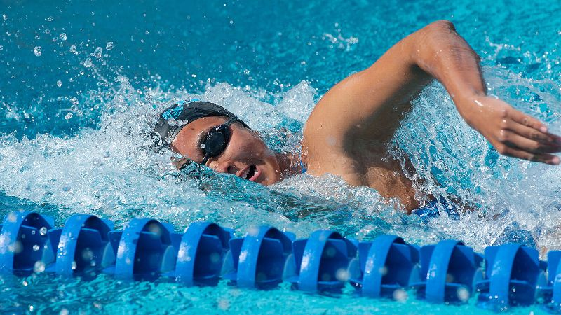 Ting Quah swam for Singapore at the 2008 Beijing Olympics, and the Bruins' senior is set to swim in the 100-yard butterfly and the 200-yard freestyle for UCLA at the NCAA championships.