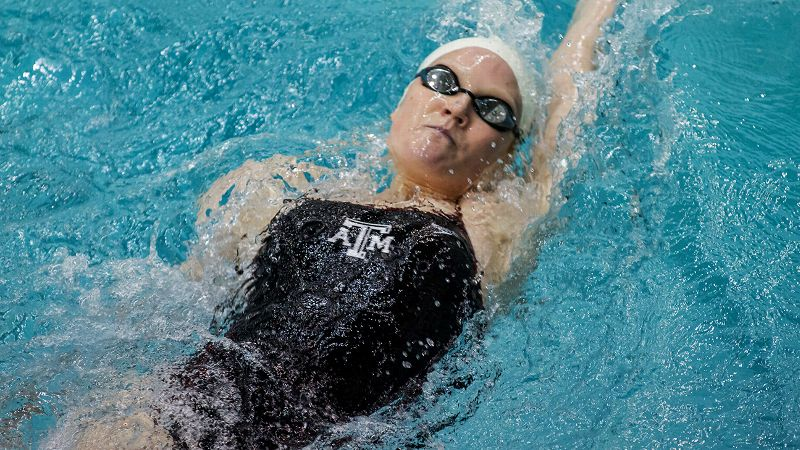 Aggies senior Erica Dittmer represented Mexico at the London Olympics and competed in the 200-meter individual medley. She's slated to compete in the 200 IM as well as the 50-yard freestyle in Minneapolis.