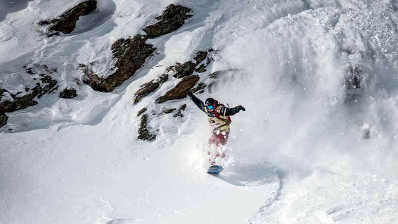 Shannan Yates, who is based in Salt Lake City, has long been a leader in women's snowboarding on the Freeride World Tour.
