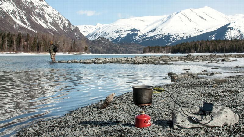 Being off the grid is great, but not indefinitely. For portable power, this lightweight thermoelectric generator converts heat into DC electrical power. It's easy to use -- just connect the USB cable, place the pot on a heat source, boil water and juice up your smartphone or any other handheld like a GPS, headlamp, or action camera. It doubles as a cooking pot and comes with a lid/skillet so you can scramble eggs and fry bacon with it too.