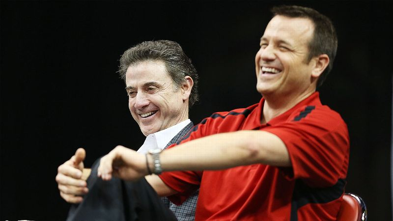 Louisville basketball coaches Rick Pitino and Jeff Walz both led their teams to the national championship game in 2013.