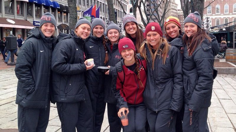 In the trip to Boston and Rhode Island, the FSU softball team faced howling winds and 32-degree weather.