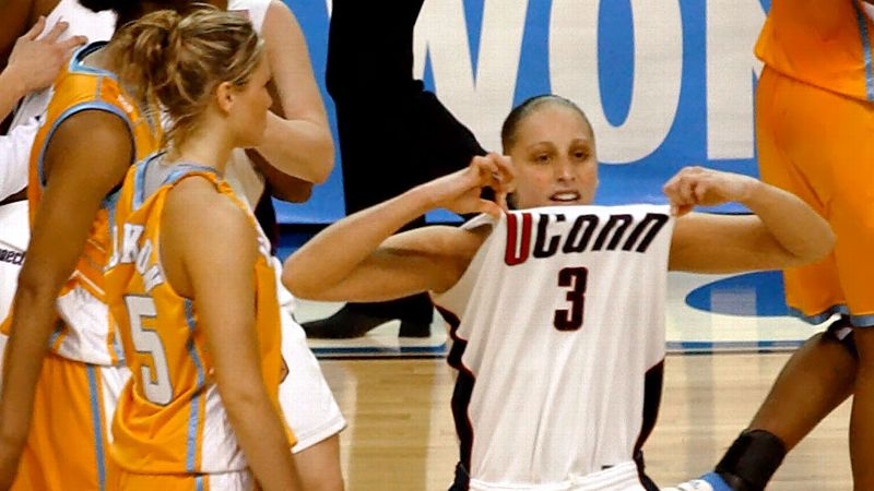 After graduating four of its five starters and having no seniors on the roster, UConn was expected to have a rebuilding season in 2002-03. But Diana Taurasi had other plans. Despite losing in the Big East championship, the Huskies rolled through the NCAA tournament and advanced to the Final Four in Atlanta. UConn rallied from a nine-point deficit in the semifinals to top Texas and went on to beat Tennessee 73-68 in the title game behind Taursai's 28-point performance.