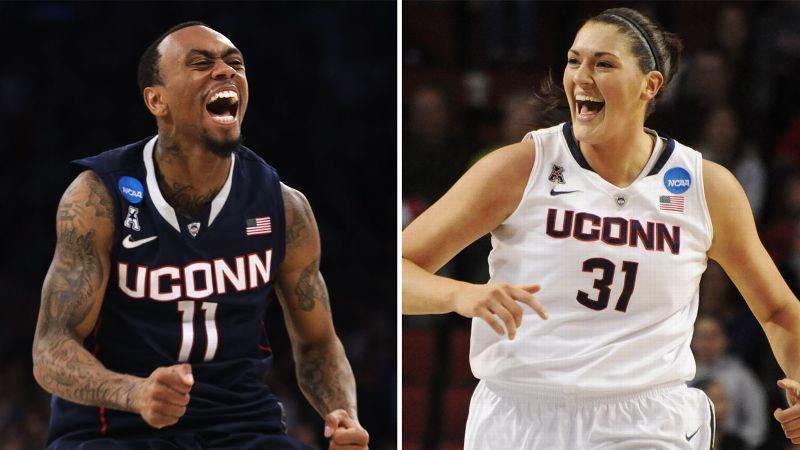 The UConn men punched their ticket with a win over Michigan State, and the women followed with a win over Texas A&M.