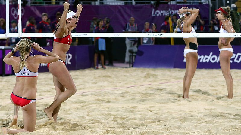 Two-time defending gold medalists Misty May-Treanor and Kerri Walsh Jennings announced the 2012 London Olympics would be their final competition together prior to the Games. The most dominant beach volleyball duo of all time, May-Treanor and Walsh Jennings hadn't lost a match in Olympic play during their reign. Their quest for a third straight gold made them must-see TV, and they didn't disappoint. Topping fellow Americans Jennifer Kessy and April Ross 21-16, 21-16, May-Treanor and Walsh Jennings took home their third gold medal.
