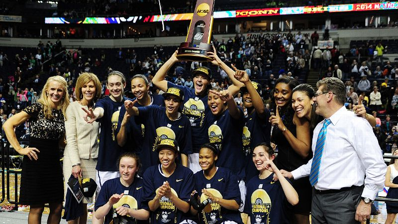 Led by seniors Stefanie Dolson and Bria Hartley and super sophomore Breanna Stewart, Connecticut entered the NCAA tournament with a perfect record and designs on repeating as national champions. Only problem? They weren't alone in the undefeated department. Longtime rival Notre Dame was ready to tango. Both teams cruised into the NCAA championship game in Nashville, but only UConn kept its foot on the gas. With a 79-58 win in the first final between two undefeated teams, Geno Auriemma and Connecticut improved to 40-0, posted their fifth undefeated season and won their record ninth NCAA title. Not enough? They also got credit for keeping the party going in Storrs after the men had won their own national title the night before.