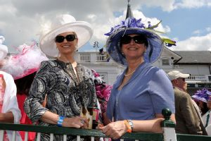 The hats at the Kentucky Derby always draw attention.