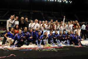 Florida and Oklahoma share the first-ever tie for the NCAA gymnastics title with scores of 198.175.