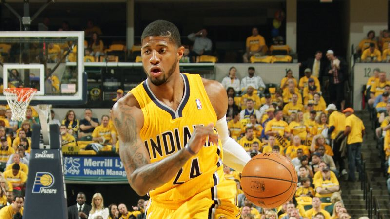 After scoring 24 points Thursday night to help propel the Pacers to a Game 7 in their first-round series against the Hawks, George turns 24 today. The two-time NBA All-Star and 2013 Most Improved Player led Indiana to the best regular-season record in the Eastern Conference this season and has averaged more than 21 points per game. Drafted in the first round by the Pacers in 2010, George has emerged as one of the league's most talented players.