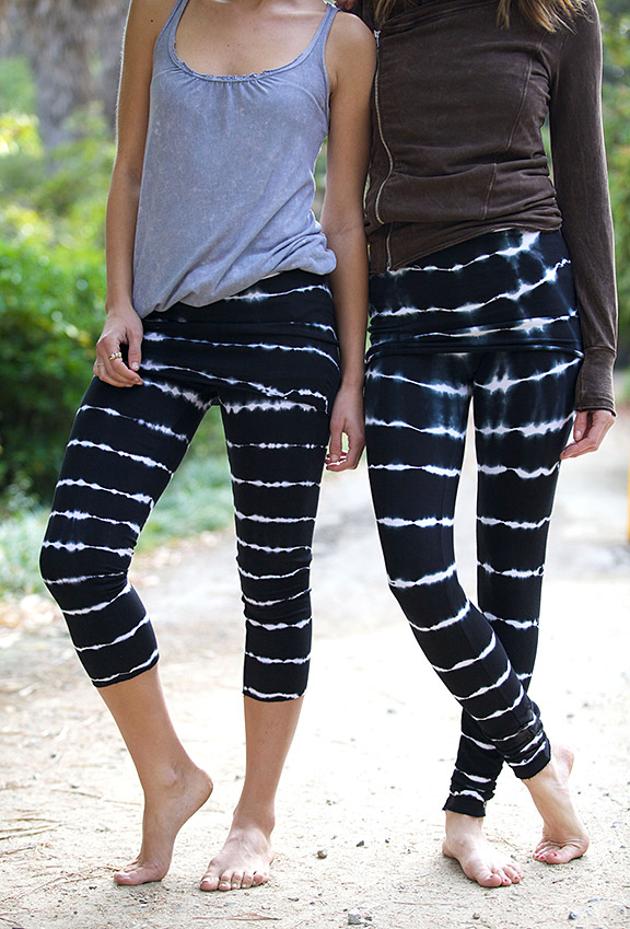 LVR Organic French Terry Leggings - Bamboo Stripes (73)