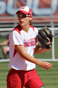 Infielder Leah Pemberton, the other Florida Southern player to help Eckerd's Kara Oberer, once broke her leg when Oberer took her out at second base.