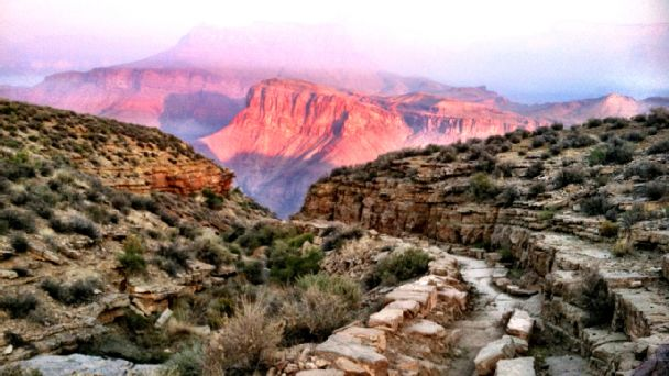 Stunning vistas are just part of what draws runners to challenging Grand Canyon routes.