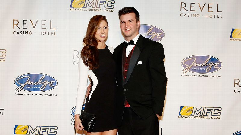 Hoping to score some extra publicity with a draft pick this year? Former Alabama quarterback AJ McCarron and his fiance/fellow famous person Katherine Webb are happy to help. They reportedly are filming a reality show about their upcoming nuptials and would be happy to mention YOUR TEAM HERE as many times as humanly possible.