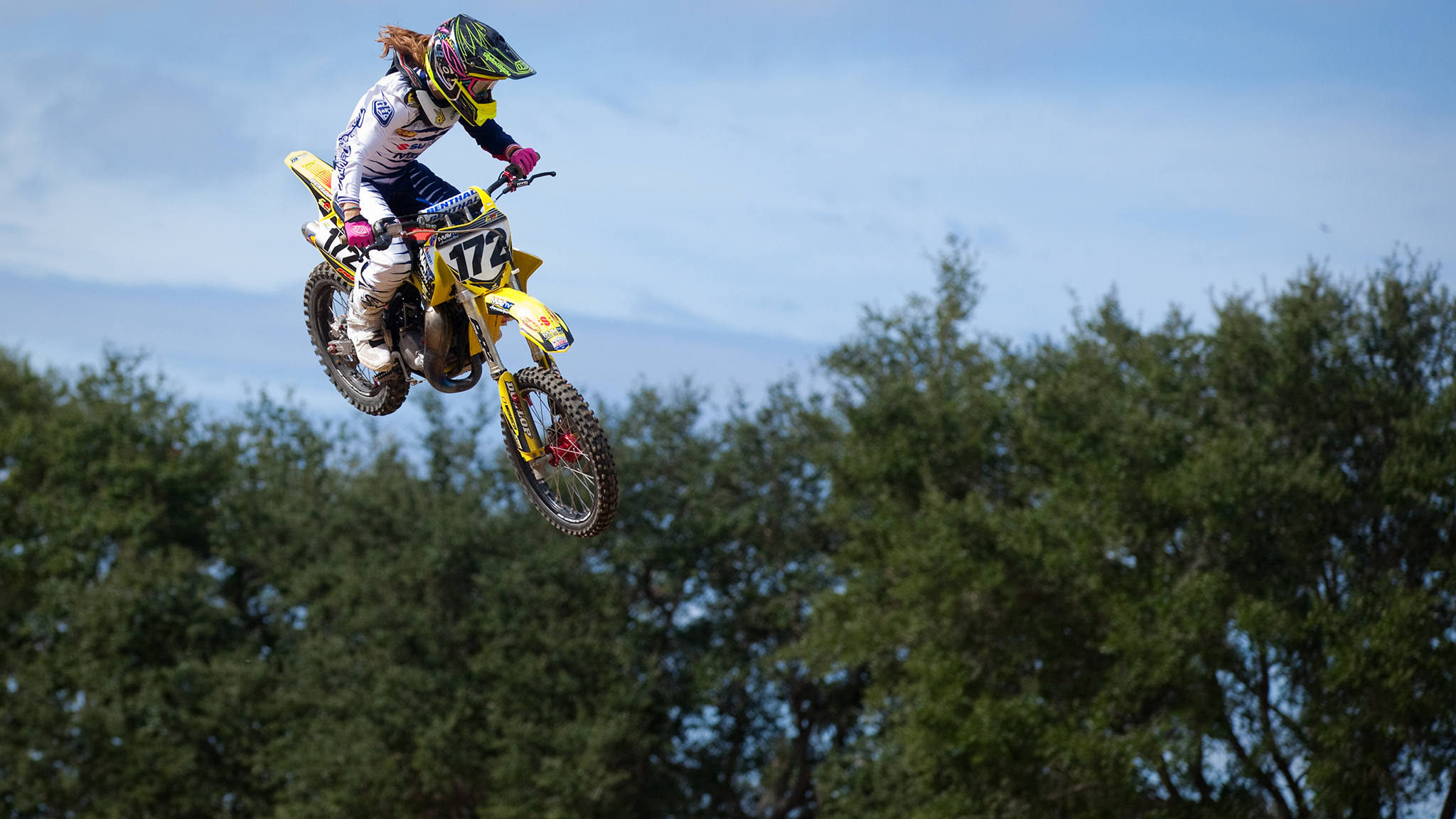 Hodges competes in the 2013 Thor Winter Olympics (also known as Mini O's) held at Gatorback Cycle Park in Gainesville, Florida, in November. Hodges took home the girls (12-16) motocross and supercross championships, as well as Women 14-plus supercross championship.