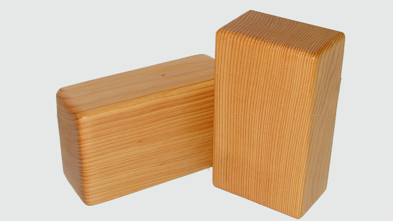 Ditch your worn, old foam yoga block and add a bit of sophistication to your practice with this vertical grain Douglas fir yoga block. Handcrafted with recycled materials, it is functional, durable and a whole lot more stylish than the yoga blocks of yesteryear.