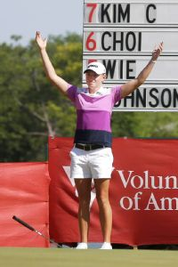 Stacy Lewis is coming off a win in Texas and has finished in the top 10 in eight of the nine events she's played in.