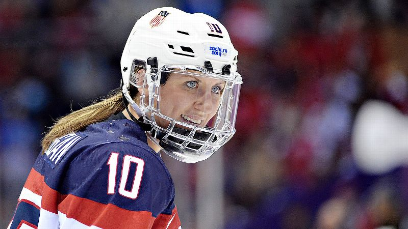 Two-time Olympian Meghan Duggan is captain of the U.S. women's hockey team.