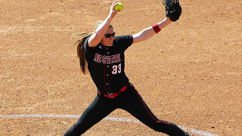 Despite an NCAA tournament record 11 walks, Emily Weiman and N.C. State managed to pull off the upset of fourth-seeded Georgia.