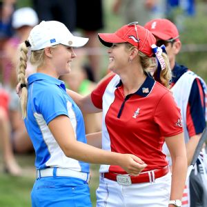 Charley Hull and Paula Creamer